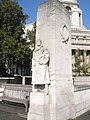 Statue at the base of the War Memorial on Tower Hill - geograph.org.uk - 1012722.jpg