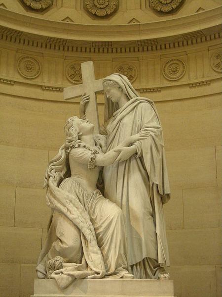 Fichier:Statue de Marie-Antoinette agenouillée devant la Religion, Chapelle expiatoire.jpg