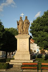 Statue of Cyril and Methodeus, Třebíč