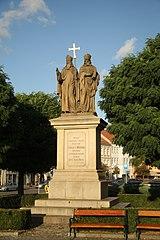 Statue of Cyril and Methodeus, Třebíč