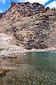 Steep rock at Playa De Vueltas black sand beach on La Gomera, Spain (48293742271).jpg