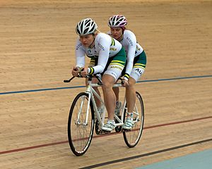Cycling at the 2012 Summer Paralympics - A tandem bicycle, with Stephanie Morton acting as Felicity Johnson's pilot.