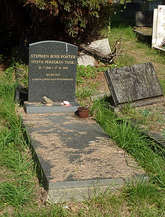 Steve Peregrin Took - Took's grave at Kensal Green Cemetery, London, photographed in 2014