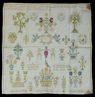 Cross-stitch form of counted-thread embroidery.