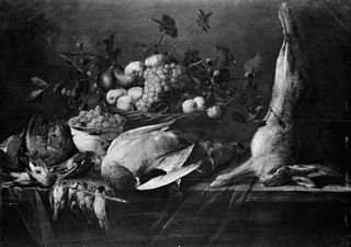 Still Life of Fruit and Game