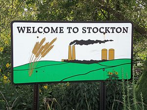 Stockton, Iowa - Image: Stockton, Iowa sign