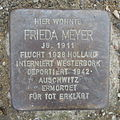 Stolperstein Herford Weddigenufer 22 Frieda Meyer.JPG