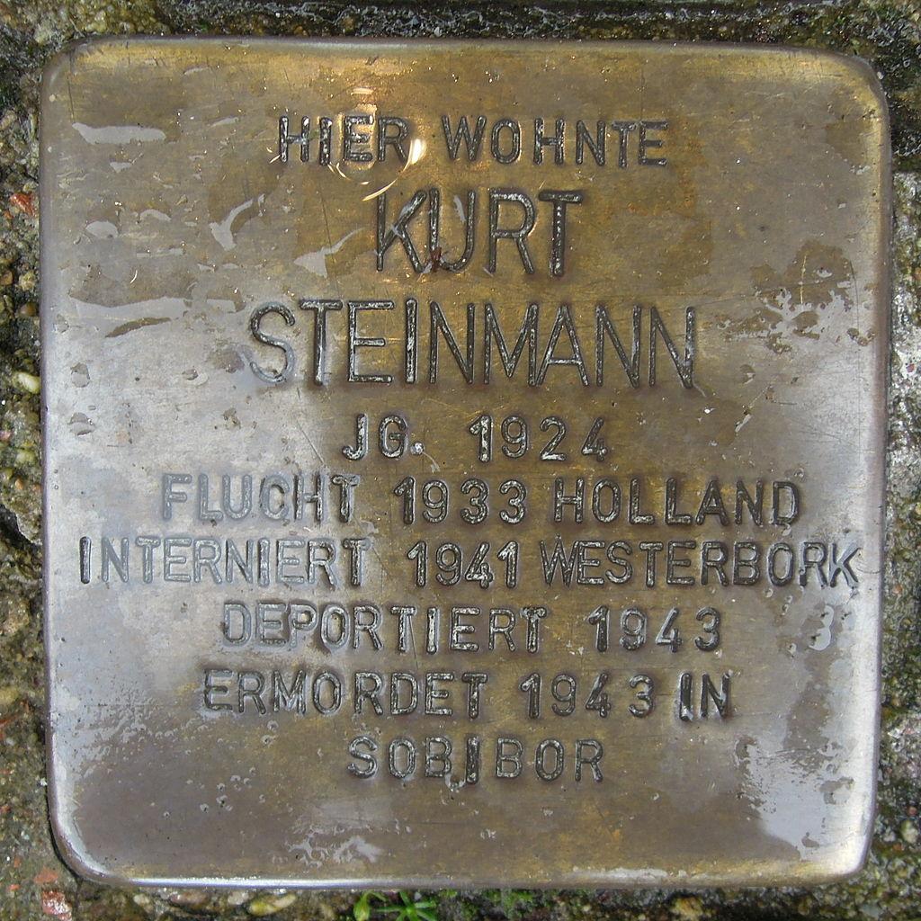 Stolperstein Steinfurt Markt 1 Kurt Steinmann.jpg