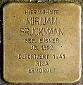 Stolpersteine Krefeld, Mirijam Bruckmann (Südwall 34).jpg