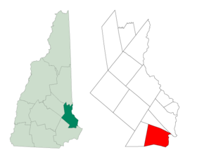 Location within Strafford County, New Hampshire