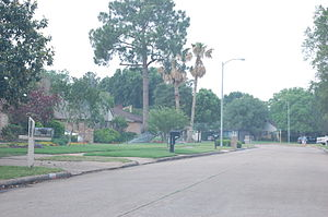 Cimarron, Texas - Street in Cimarron