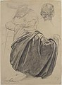 Studies of a Draped Female Figure, Kneeling, Seen from the Back, for the East Transept of the Chruch of Sainte-Clothilde, Paris MET 1998.406.1.jpg