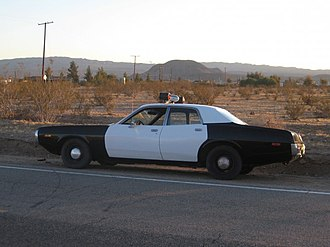 Stylo (song) - Stylo police car on location at Calico, CA