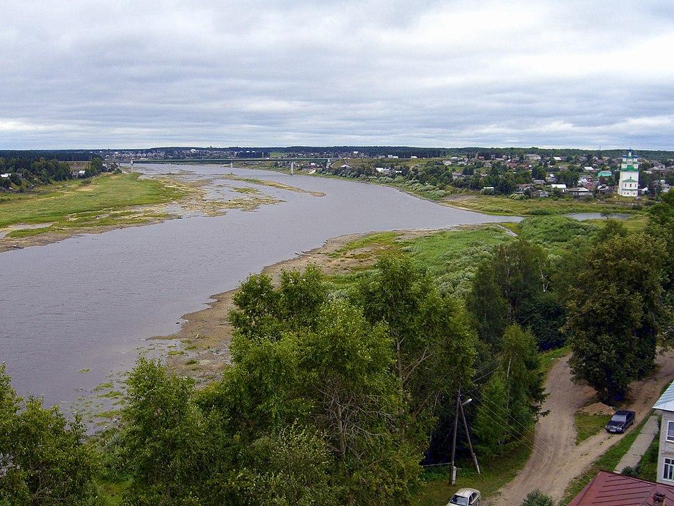 The Sukhona River in Totma