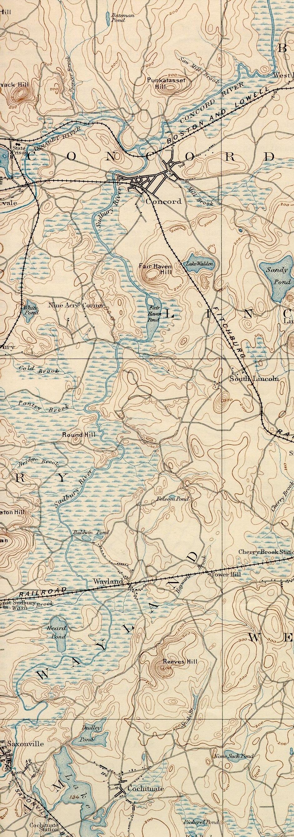 Sudbury River (Massachusetts) map