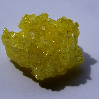 Native element minerals - Native sulfur