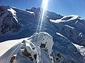Sun reflexion over Mont Blan peaks.JPG