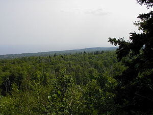 Temperance River State Park - Looking from the bluff on the Superior Hiking Trail to Cross River.