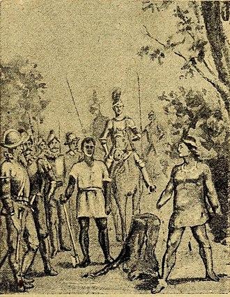 Galvarino - Image: Suplicio de Galvarino