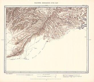 Ad-Dhahiriya - Image: Survey of Western Palestine 1880.25
