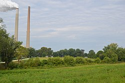 Sutton Township fields and West Virginia power plant.jpg