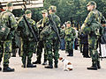 Swedish Home Guard soldiers in Kungsträdgården, Stockholm.jpg