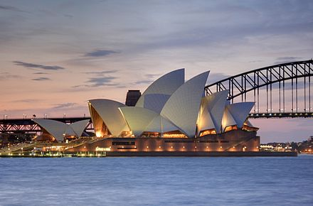 The Sydney Opera House, location for the final draw Sydney Opera House, botanic gardens 1.jpg
