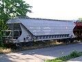 Szentes vasútállomás rakodásra várakozó Tagps tehervagon.JPG