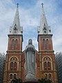 Tượng Đức Mẹ tiền đường Nhà thờ Đức Bà Sài Gòn, trùng tu 2018.jpg