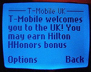 Roaming - An SMS welcome to Proximus (Belgium) customers who have roamed onto T-Mobile in the UK