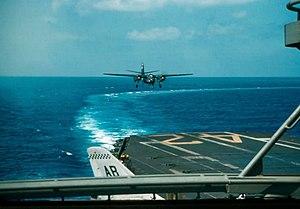 TF-1 Trader landing on USS FD Roosevelt (CVA-42) 1959.jpg
