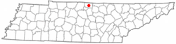 Location of Lafayette, Tennessee