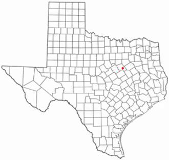 Bynum, Texas - Image: TX Map doton Bynum