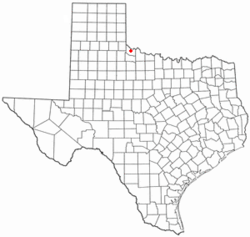 Location of Quanah, Texas