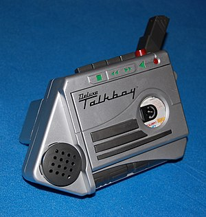 Talkboy - Deluxe Talkboy, with the microphone extended
