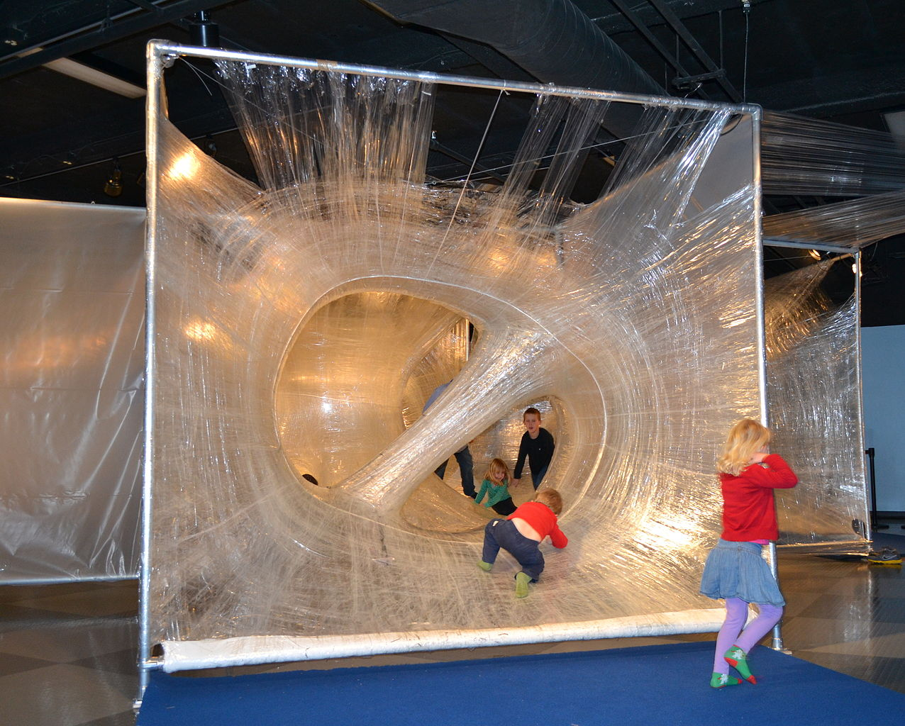 File:Tape Scape by Eric Lennartson at childrens discovery museum in San ...