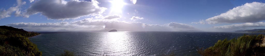 Panorama over Lake Taupo.