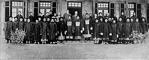 Weihaiwei under British rule - Commissioner staff and headmen of the territory in 1908