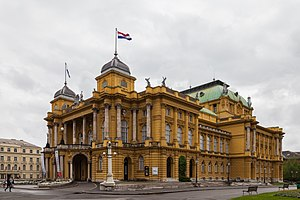 Croatian National Theatre in Zagreb - Croatian National Theatre building in Zagreb