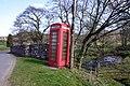 Telephone box and bridge over Catlee Burn - geograph.org.uk - 395500.jpg