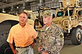Tennessee Gov. Bill Haslam and Brig. Gen. Donnie Walker Jr., commanding general of the 3d Sustainment Command (Expeditionary), discuss retrograde operations 140928-A-NY241-584.jpg