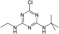 Strukturformel von Terbuthylazin