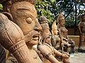 Terracotta statues at Sanskriti Kendra Museum, Delhi.jpg
