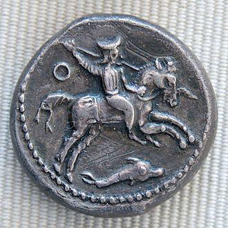 Evagoras II - Silver tetradrachm of Evagoras II (Cabinet des Médailles, Paris)