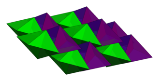 Tetrahedron packing - The currently densest known packing structure for regular tetrahedra is a double lattice of triangular bipyramids and fills 85.63% of space