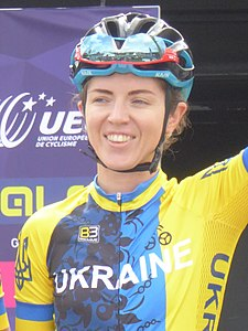 Tetyana Ryabchenko - 2018 UEC European Road Cycling Championships (Women's road race).jpg