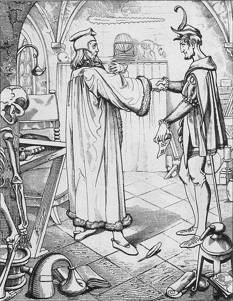 Datei:Teufelspakt Faust-Mephisto, Julius Nisle.jpg
