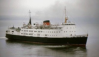 "MV Mona's Queen (1971) - Image: The ""Mona's Queen"" at Stranraer geograph.org.uk 1622073"
