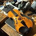 The Black Violin (front) at Guy Rabut's workshop.jpg