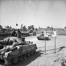 Crusader tanks of the 1st Armoured Division enter El Hamma, 29 March 1943